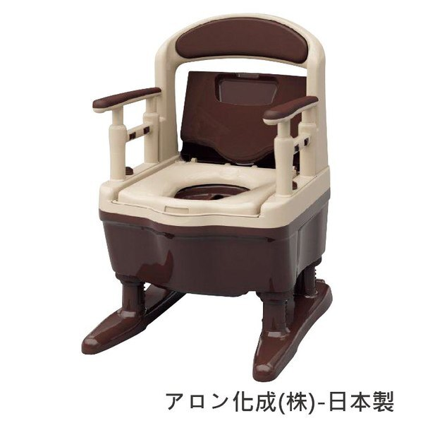[預購]行動馬桶-安壽老人用品銀髮族樹脂易排泄附蓋日本製[T0818]