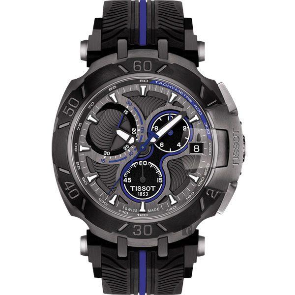 全球限量5000只 TISSOT 天梭 T-RACE MOTOGP 2017限量版賽車錶-黑x藍 / 45mm T0924173706100 0