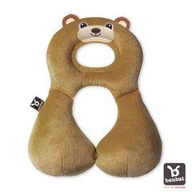 【淘氣寶寶】【以色列Benbat】寶寶旅行頸枕頭枕適用1-4歲棕熊【保證公司貨●品質有保證●非水貨】