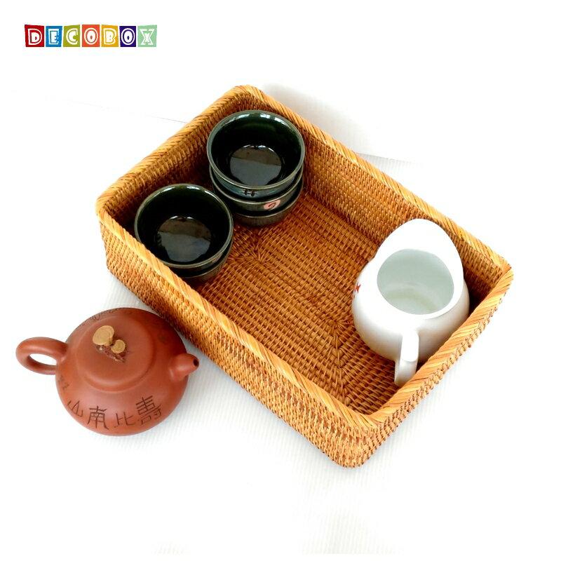 DecoBox藤編長方茶具大收納籃(茶道,藤編包) 0