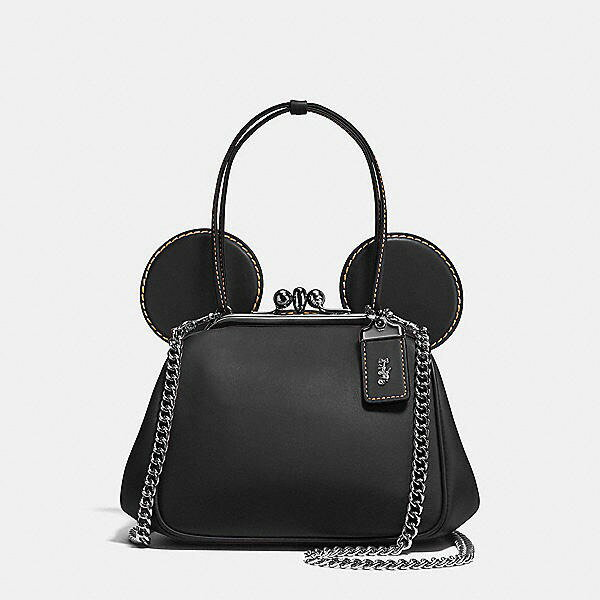 艾莉波波 【DISNEY X COACH】MICKEY KISSLOCK 棒球手套鞣製皮革手袋 3色 少量現貨 精品 代購 3