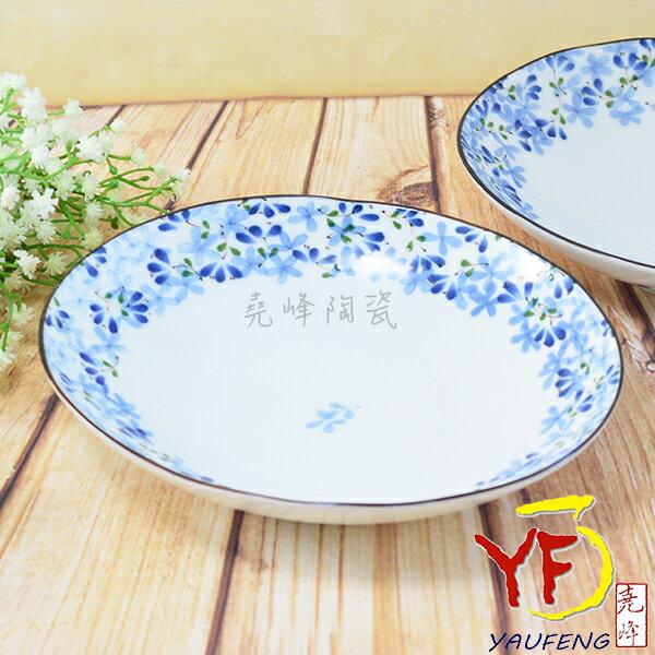 ★堯峰陶瓷★餐桌系列 日本美濃燒 7.5吋 芽 橢圓盤 餐盤