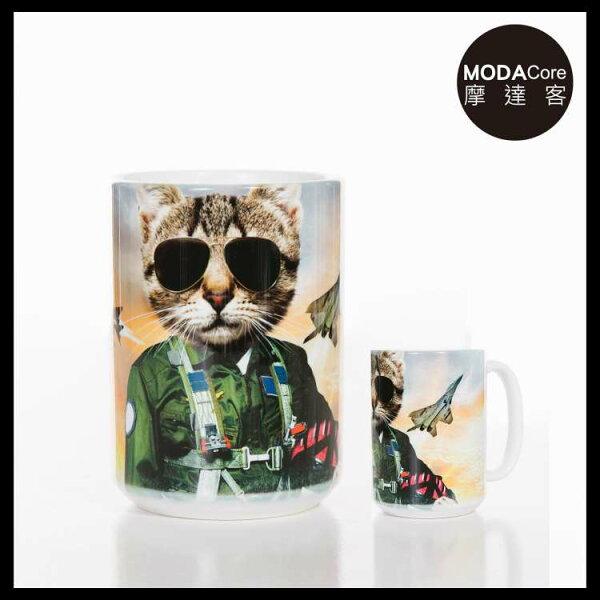 【摩達客】(預購)美國TheMountain湯姆克魯貓圖案設計藝術馬克杯440ml