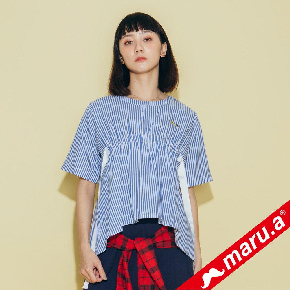 【maru.a】領口挖空舒適上衣(2色)8313112 0