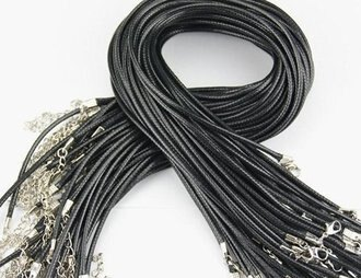 (10條批發) 韓國黑色皮繩批發~買五送一~編織皮繩蜡繩蠟繩 ~