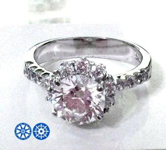 兩克拉 冰晶璀璨 八心八箭鋯石戒指