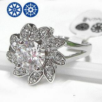 晶鑽花八心八箭鋯石戒指