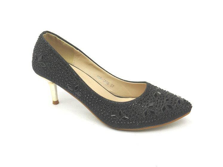 高跟鞋* 簡約舒適高跟尖頭包鞋23-158A8691(黑)☆【彩虹屋】☆現+預