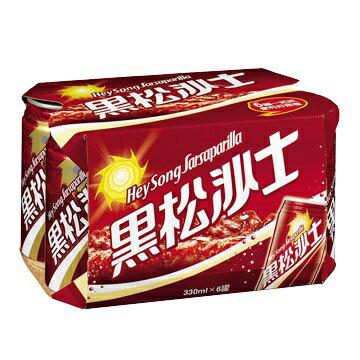 黑松沙士330ml罐(6入/組)共2200g