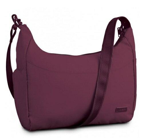 澳洲 PacSafe CitySafe 200 GII 休閒防盜斜肩包 紫紅|防盜|肩背|旅遊|側背包 PB145PM