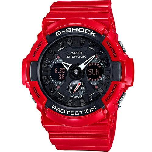 CASIO G-SHOCK GA-201RD-4ADR紅黑動感流行時尚腕錶/52.5mm