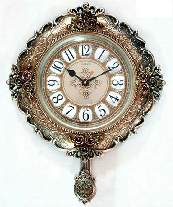 【尚品傢俱】807-64 涅古-銀 造型時鐘/精緻飾鐘/美術掛鐘/美型時計/精美掛飾/藝術壁鐘/時尚美學精品吊鐘