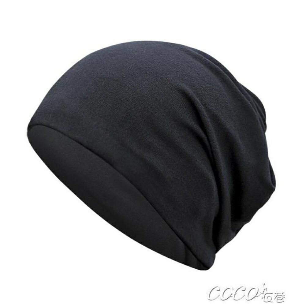 頭巾帽 帽子男冬天潮牌堆堆套頭帽百搭青年嘻哈頭巾帽包頭帽保暖男士睡帽 coco衣巷 聖誕節禮物
