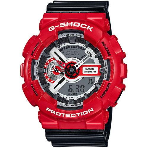CASIO G-SHOCK GA-110RD-4紅黑動感流行時尚腕錶/51mm