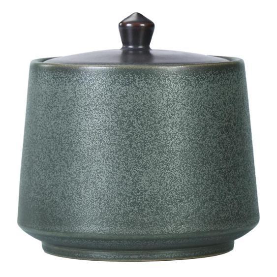 茶葉罐 唐豐陶瓷茶具茶葉盒茶倉密封家用儲物罐普洱罐旅行存 - 家 夏洛特居家名品