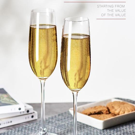 紅酒杯 歐式水晶玻璃香檳杯6只裝套裝家用2個甜氣泡