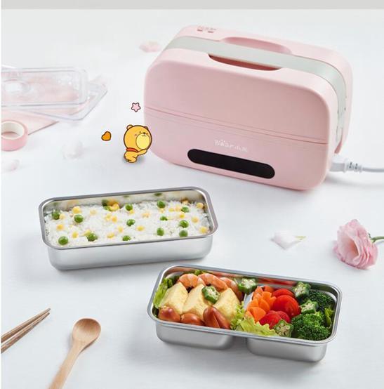 插電便當盒 電熱飯盒智能保溫可插電預約定時自動加熱蒸飯菜上班族便當盒
