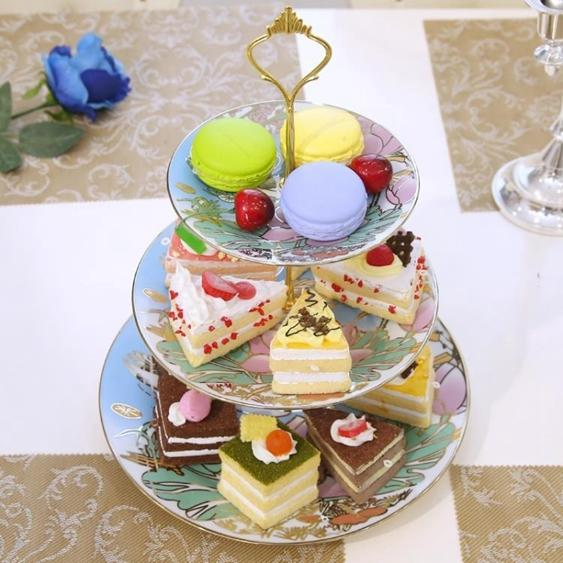 碟子 陶瓷水果盤客廳創意玻璃蛋糕托家用下午茶點心架