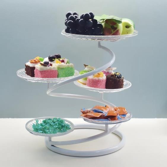 碟子 鐵藝多層水果盤蛋糕架創意客廳下午茶點心托盤婚慶小吃糕點臺