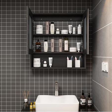 浴室櫃 北歐實木浴室洗臉鏡櫃掛墻式現代簡約衛生間防霧鏡箱洗手間鏡子櫃 - 夏洛特居家名品