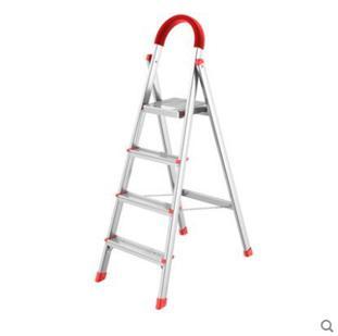 家用人字梯四步五步加厚鋁合金便攜折疊梯 夏洛特居家名品