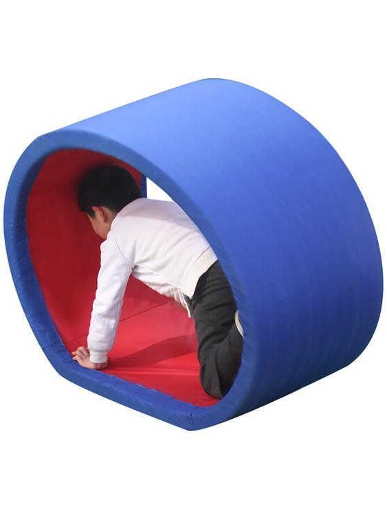 感統訓練器材家用幼兒園戶外自制體育兒童趣味運動道具爬行圈玩具