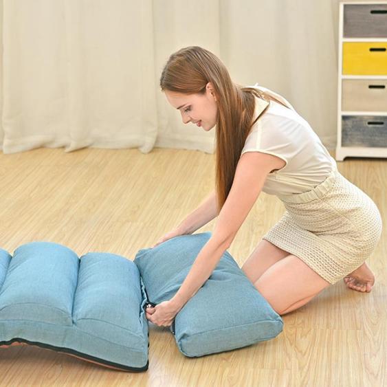 懶人沙發榻榻米飄窗小躺椅單人可摺疊沙發床地板躺椅無腿靠背椅子 NMS