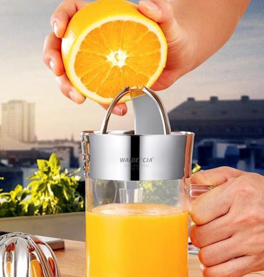 手動榨汁機家用水果小型柳丁榨汁器榨汁杯便攜式檸檬柳丁石榴榨汁 夏洛特居家名品