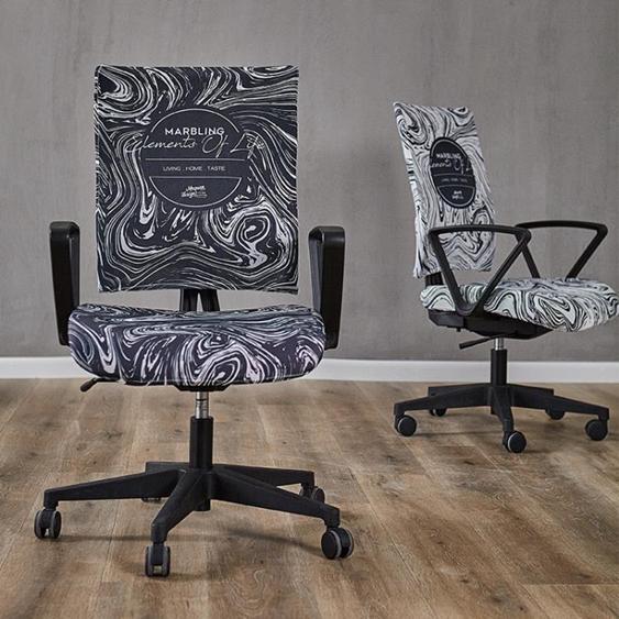 辦公椅套扶手轉電腦椅子套罩現代北歐ins彈力通用布藝座椅套簡約 夏洛特居家名品