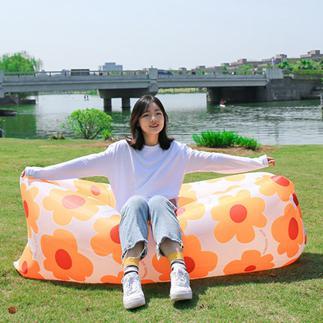 戶外懶人充氣沙發袋空氣床墊野外氣墊床椅子便攜式單人折疊網紅 夏洛特居家名品