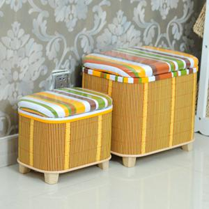 竹編收納凳子儲物凳可坐成人收納椅子穿鞋凳多功能換鞋凳子儲物箱jy 夏洛特居家名品