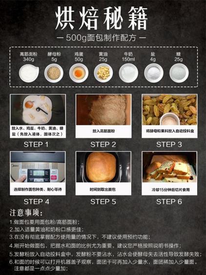 麵包機 面包機家用全自動和面發酵早餐饅頭機小型智能撒料肉松多功能