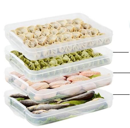 便當盒 家用裝放餃子的速凍盒冰箱保鮮收納盒雞蛋盒多層托盤