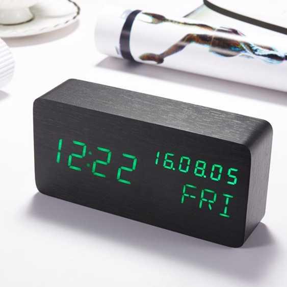 鬧鐘led鬧鐘創意學生臥室床頭數字式智慧靜音多功能簡約夜光電子時鐘