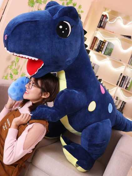 霸王龍公仔恐龍毛絨玩具睡覺抱枕布娃娃玩偶可愛男孩兒童生日禮物