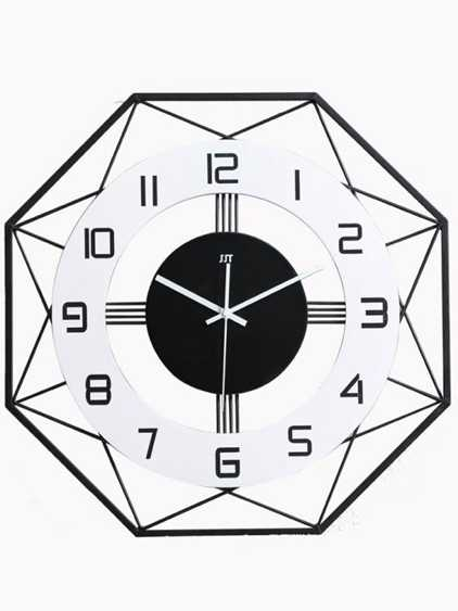 掛鐘 北歐鐵藝鐘表掛鐘客廳創意個性掛表時尚靜音大氣簡約家用異形時鐘