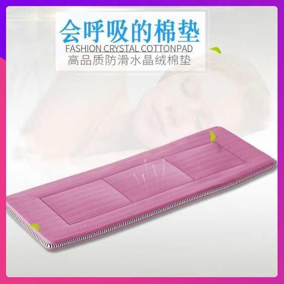 折疊床 靈鷹辦公室折疊床單人午休午睡床配套豪華水晶絨床墊床褥