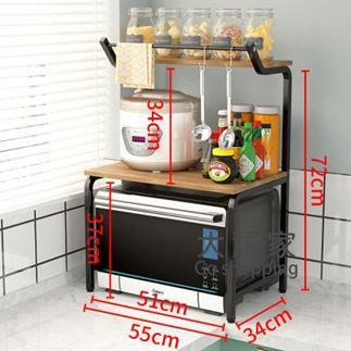 微波爐置物架 廚房置物架微波爐烤箱架子臺面雙層儲物調料味用品家用桌面收納架T