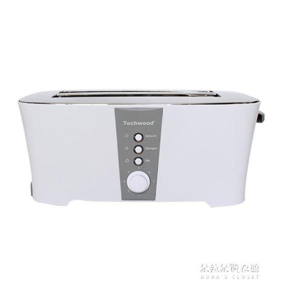 烤麵包機4片商用多士爐家用全自動吐司機早餐烤完自動彈