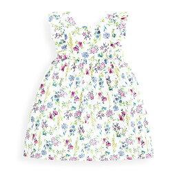 預購【愛寶貝】英國 JoJo Maman BeBe 超優質嬰幼兒/兒童100%純棉無袖洋裝_夏日花卉 (JJ-E4052)