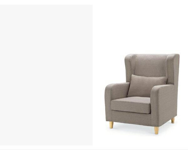 沙發【YUDA】傑西 獨立筒坐墊 亞麻布 淺咖啡 單人 布沙發/沙發椅 附腳椅 I0X 294-101