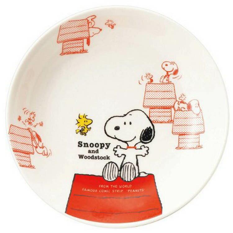 日本製 史努比史奴比 Snoopy 陶瓷咖哩盤 餐盤盤子水果盤點心盤 餐具 卡通造型 日本進口正版 603357