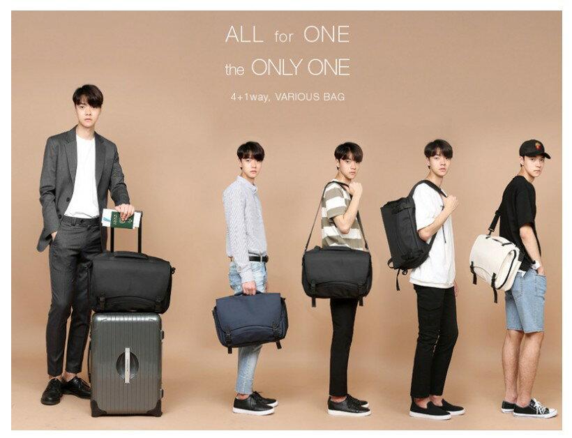 韓國代購 高品質 簡約男性公事14.15吋筆電雙背包 經典包 7