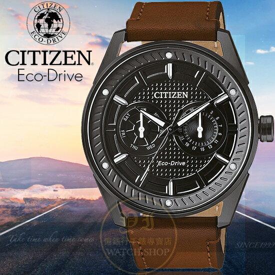 CITIZEN日本星辰Eco-Drive品味時刻光動能日曆腕錶BU4028-18E公司貨