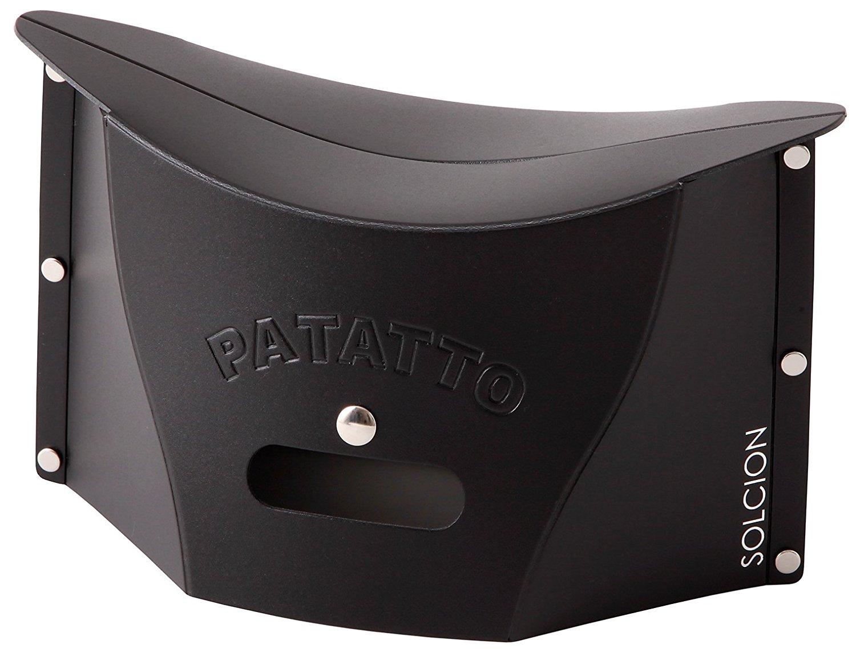 X射線【C642675】PATATTO mini 超輕量可折疊攜帶式椅子S-黑,露營椅/收納椅/造型椅/折疊椅/凳子/矮凳/板凳/椅子
