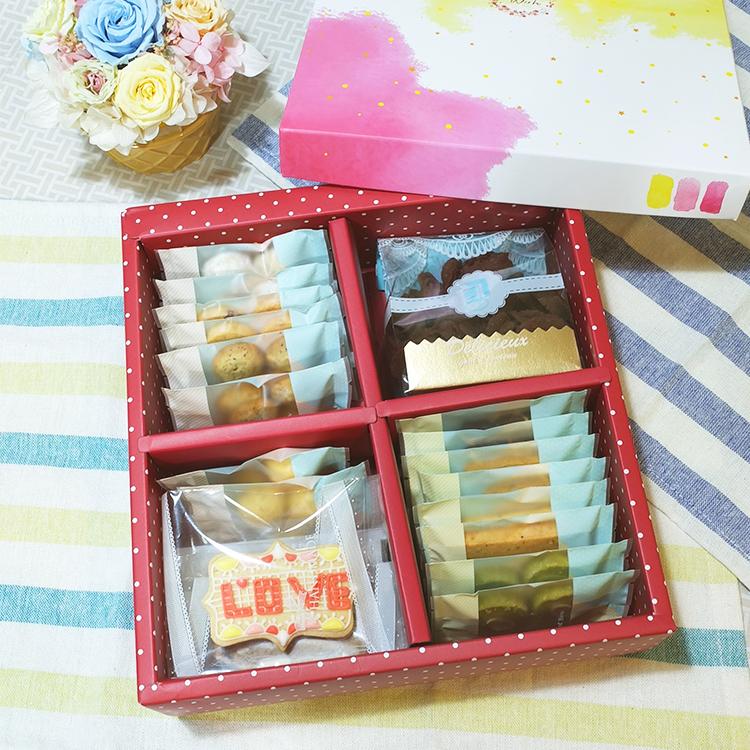 *樂意小坊*《Happy Wedding-單層喜餅禮盒》 共有10種口味的手工餅乾,喜氣洋洋的大紅包裝,告訴大家我要結婚了!!!★5月全館滿499免運