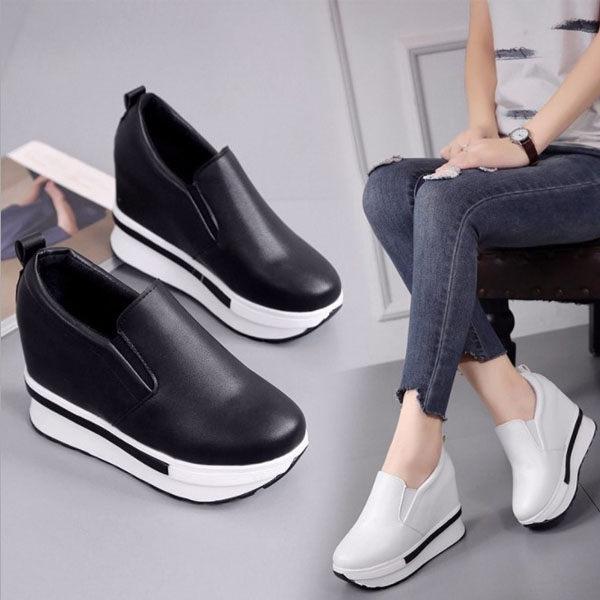 簡約套腳內增高懶人鞋