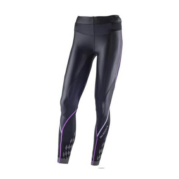 新發售 新進化 BG8000Ⅱ 女緊身褲 K2MJ5D0197(黑*紫)【美津濃MIZUNO】