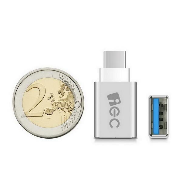 Aluminum USB-C to Micro USB Adapter Support Data Transfer and Charging for PC Laptop Phone 3