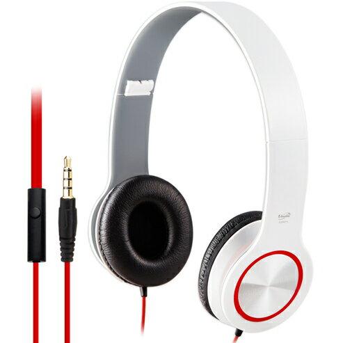 【迪特軍3C】E-books S13 智慧手機接聽鍵摺疊耳機-白